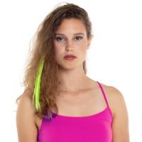 Haar extension fluo neon groen met clip