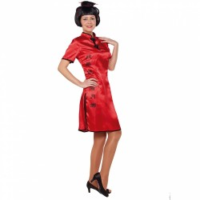 Chinees kostuum dames rood kimono jurkje
