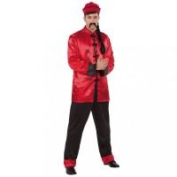 Chinees kostuum heren rood 3-delig