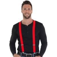 Rode bretels voor volwassenen of kinderen