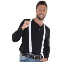 Witte bretels voor volwassenen of kinderen