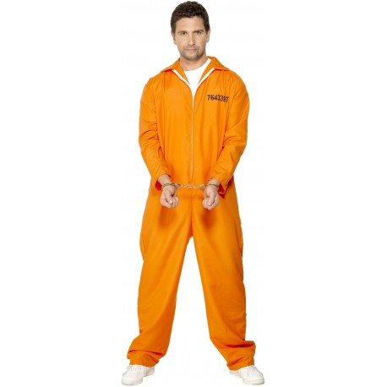 amerikaanse gevangene kostuum oranje gevangenispak outfit