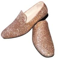 Gouden glitter disco schoenen voor heren