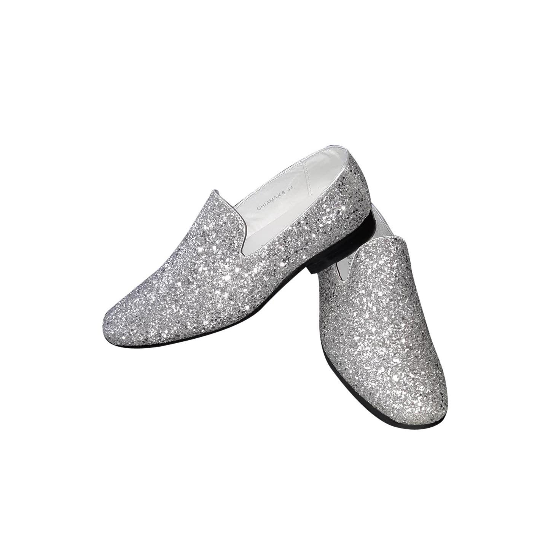 Glitter Schoenen Glitter Zilveren Zilveren Heren Zilveren Schoenen Disco Disco Glitter Disco Heren Schoenen wCq4zY