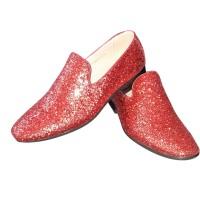 Rode glitter disco schoenen voor heren