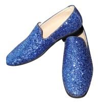 Blauwe glitter disco schoenen voor heren