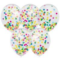 Confetti ballonnen multicolor 5 stuks