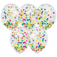 Confetti ballonnen mix 5 stuks 30cm