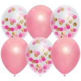 Confetti ballonnen roze