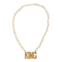"""Gouden Playboy Ketting """"King"""""""