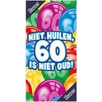 """Tissue box """"Niet huilen, 60 is niet oud"""""""