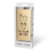 Cadeau Powerbank goud - I love you