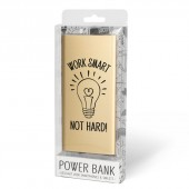 Cadeau Powerbank goud - work smart