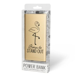 Cadeau Powerbank goud - born to stand out