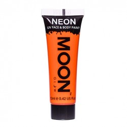 fluo neon makeup oranje blacklight schmink