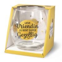Wijn-gin-waterglas Vriendin Proost !