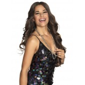 Disco accessoires ketting discobal zilver