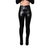 zwarte metallic legging dames carnaval