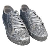Glitter sneakers zilver dames disco schoenen
