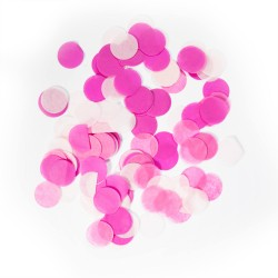 Confetti groot rond baby roze 14 gr 2,5cm