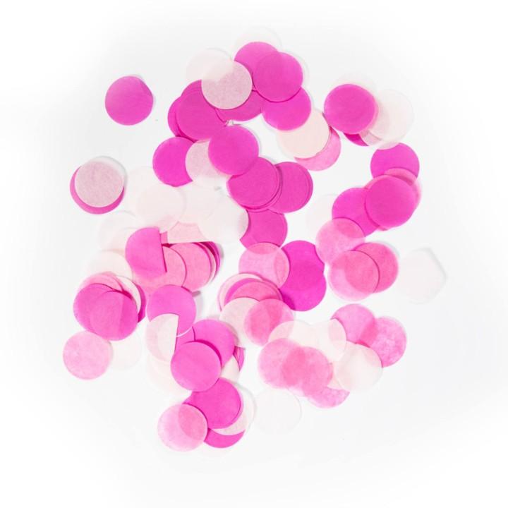 Confetti groot rond baby roze 14 gr 2,5cm