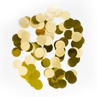 Confetti groot rond goud 14 gr 2,5 cm