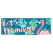flamingo decoratie spandoek
