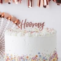 Verjaardagskaarsje 'Hooray' Rosé Goud