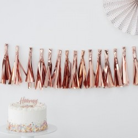 Tassel slinger rosé goud 2m