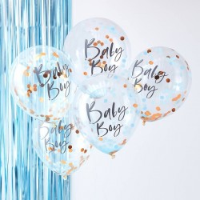 Confetti ballonnen 'Baby Boy' 5st 30cm