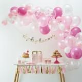 Roze ballonnenboog pakket zelf maken