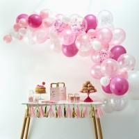 Roze ballonnenboog DIY-pakket 70-delig
