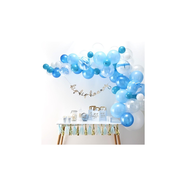 blauwe ballonnenboog pakket zelf maken