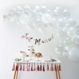 witte ballonnenboog pakket zelf maken