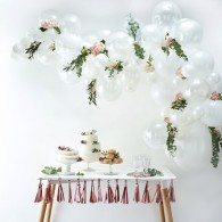 Witte ballonnenboog DIY-pakket 70-delig