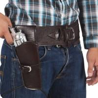 Western cowboy holster met riem 110cm