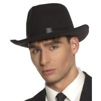 Jaren 20 hoed zwart heren