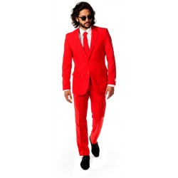 Opposuits kostuum Red Devil heren