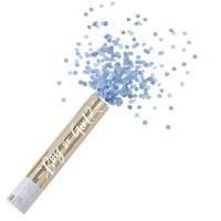 Gender reveal confetti kanon blauwe popper