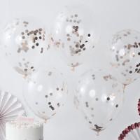 Confetti ballonnen rose goud 5 stuks 30cm