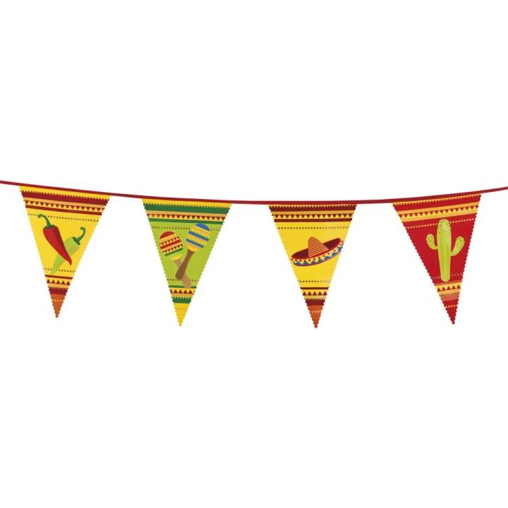 """Mexicaanse vlaggenlijn """"Fiesta"""" 6 meter"""