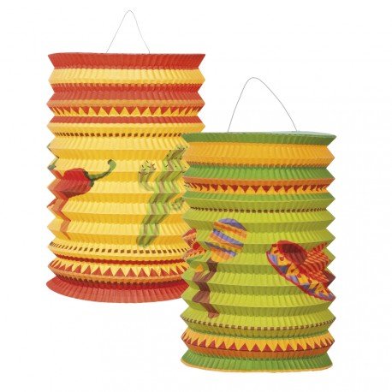 mexicaanse lampionnenset versiering mexico feest decoratie