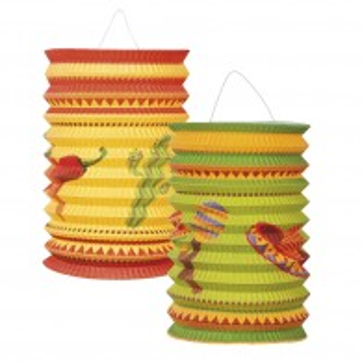 "Mexicaanse lampionnen set ""Fiesta"" 16 cm"