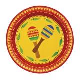 kartonnen bordjes mexicaanse tafeldecoratie versiering mexico feest decoratie