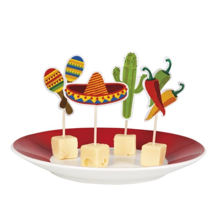 """Mexicaanse """"Fiesta"""" cocktailprikkers 12 stuks"""