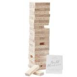 alternatief gastenboek bruiloft jenga hout