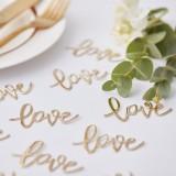 tafelconfetti love goud bruiloft jubileum decoratie