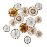waaier decoraties goud versiering feest decoratie