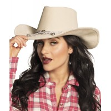 cowboyhoed beige dames cowboy accessoires cowgirl
