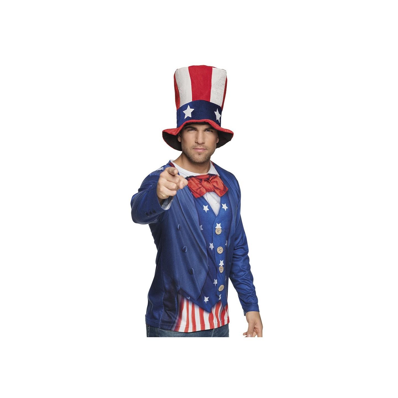 Uncle Sam shirt amerikaanse verkleedkleding